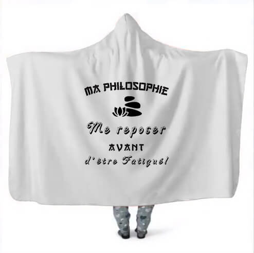 Creation Design Hooded Blanket Philosophie Repos
