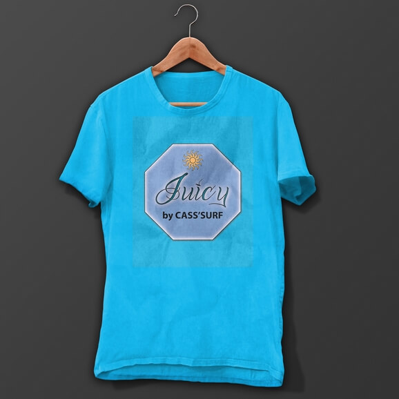 T-shirt Surfer Turquoise Juicy Design