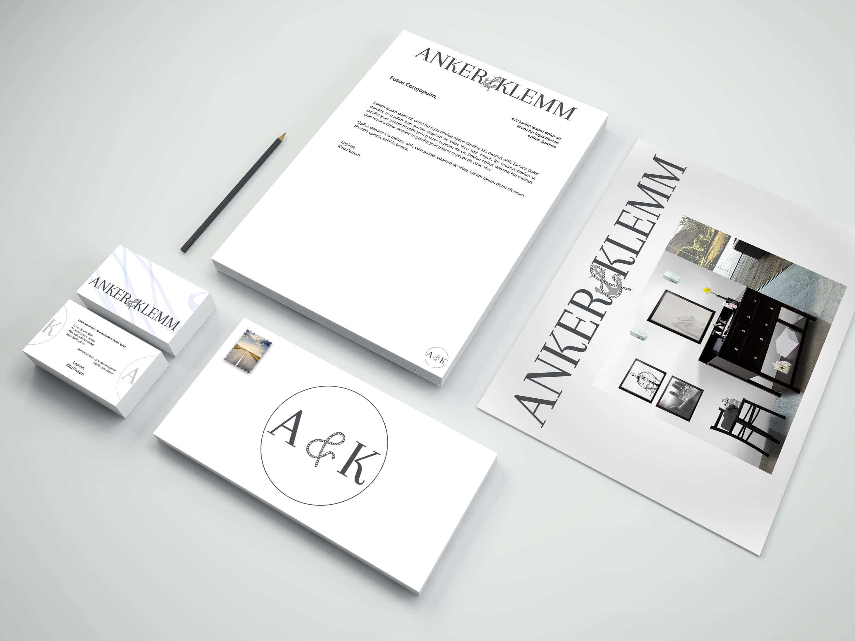 ANCHOR Design of Brand Identity Mockup v1
